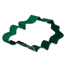 Buy John Lewis Christmas Holly Shaped Stainless Steel Cookie Cutter, Green Online at johnlewis.com