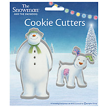 Buy Creative Party Christmas The Snowman and Snowdog Cookie Cutter Set Online at johnlewis.com