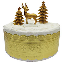Buy John Lewis Highland Myths Deer and Christmas Trees Cake Topper Online at johnlewis.com