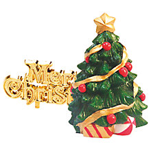 Buy John Lewis Traditional Christmas Tree Cake Topper Online at johnlewis.com