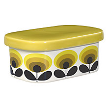 Buy Orla Kiely Ceramic Butter Dish With Lid, Flower Oval, Yellow Online at johnlewis.com