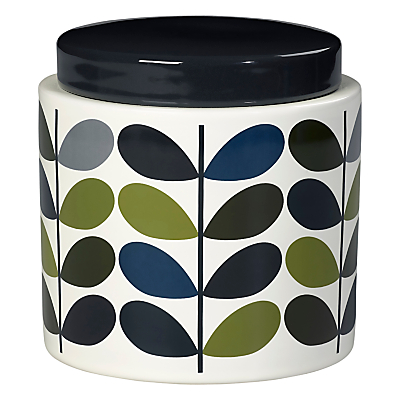Orla Kiely Multi Stem Stoneware Storage Jar, Khaki/Multi, 1L