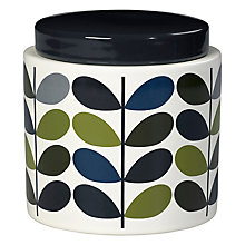 Buy Orla Kiely Multi Stem Stoneware Storage Jar, Khaki/Multi, 1L Online at johnlewis.com