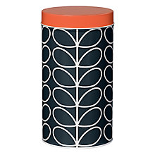 Buy Orla Kiely Linear Tin Canister, Slate Online at johnlewis.com