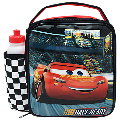 Cars 3 Combo Lunch Bag And Bottle, Red/Multi