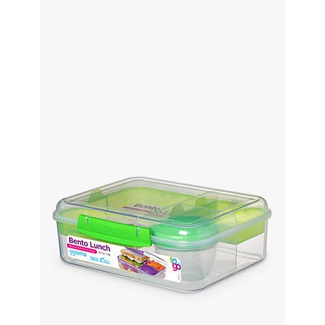 buy sistema bento lunch box assorted john lewis. Black Bedroom Furniture Sets. Home Design Ideas