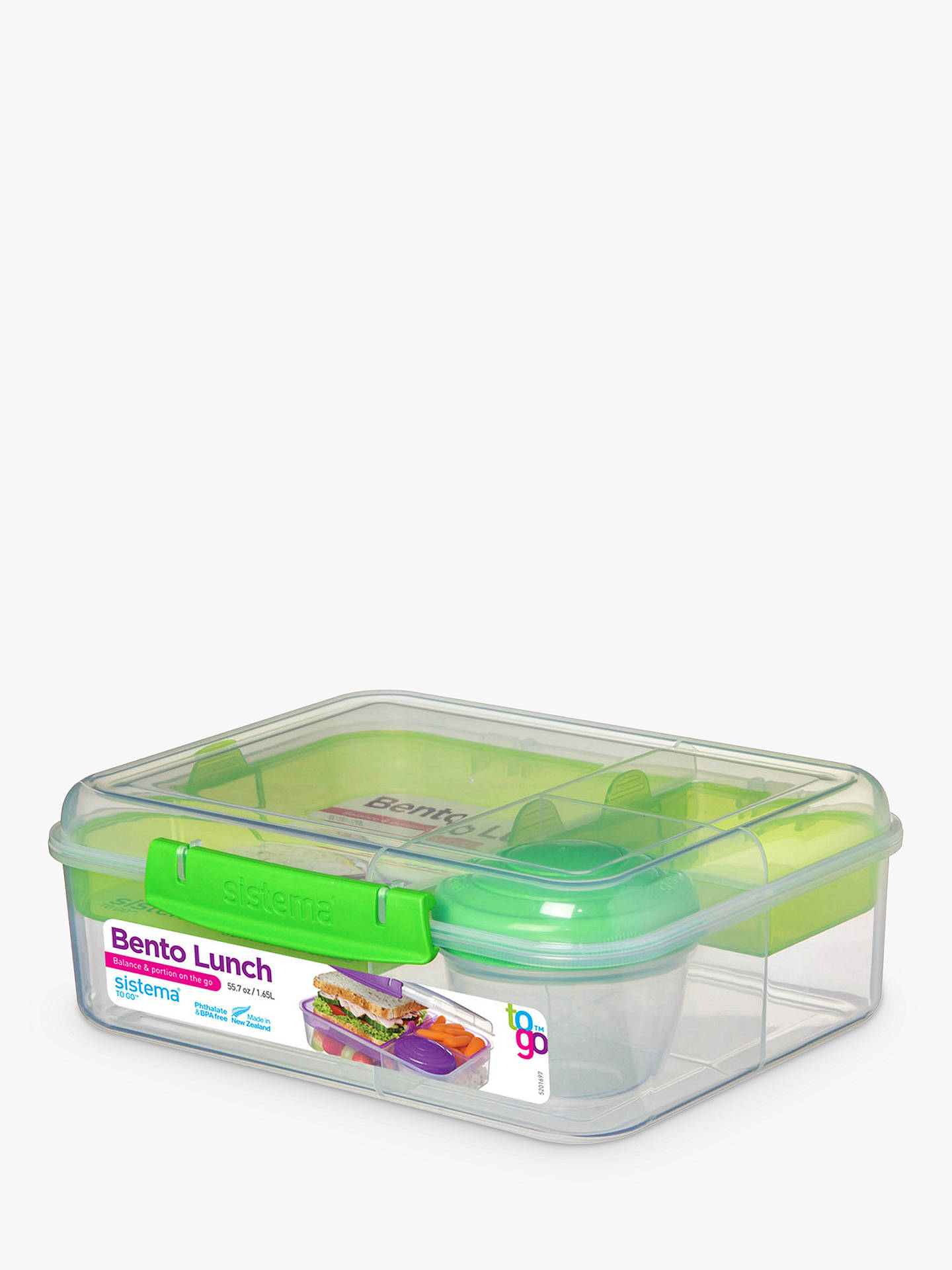 Buy Sistema Bento Lunch Box, 1.65L, Assorted Online at johnlewis.com