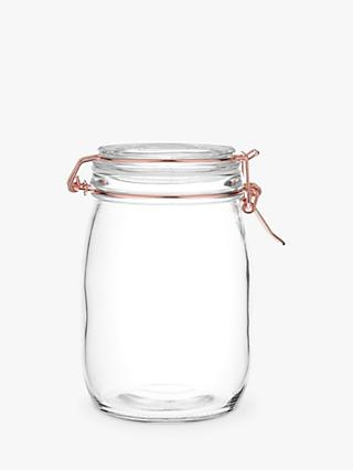 House by John Lewis Copper Wire Clip Top Jar, 1L