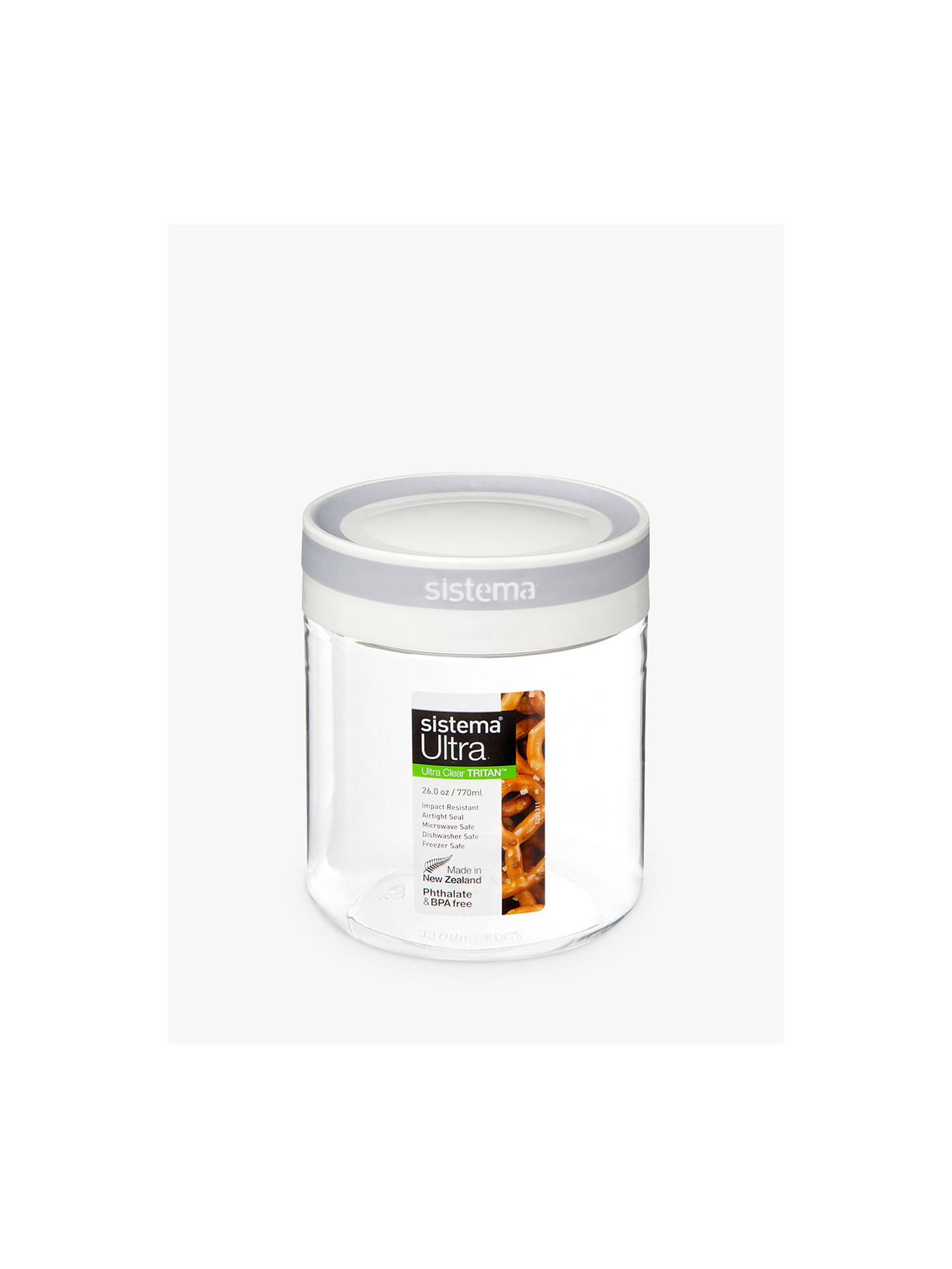 Buy Sistema Tritan Storage Canister, 770ml Online at johnlewis.com