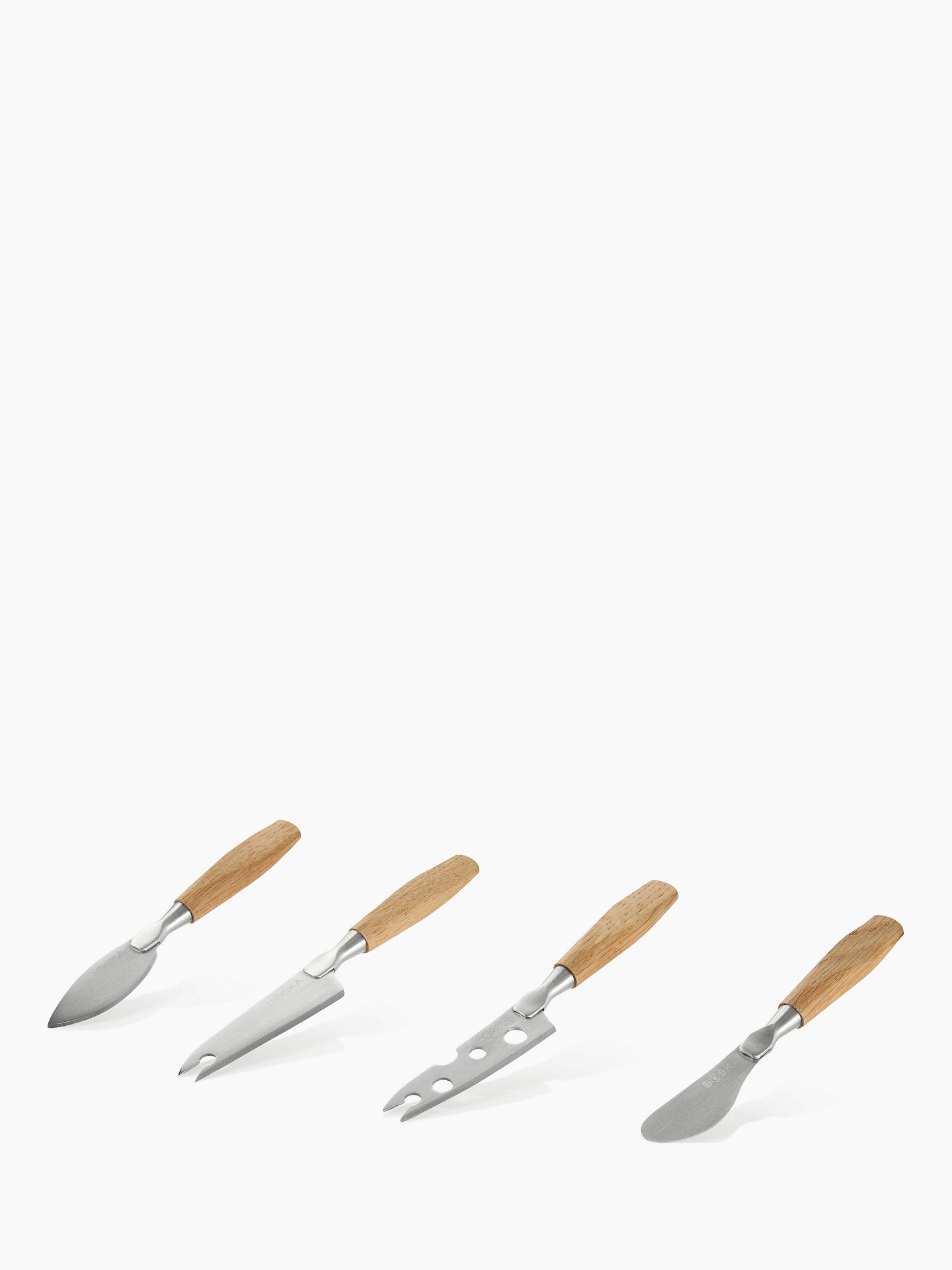 Buy Boska Oak Cheese Knife Set, Stainless Steel Online at johnlewis.com