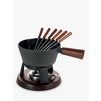 Boska Cast Iron Fondue Set Pro with Wood Handles, 1L