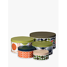 Buy Orla Kiely Nesting Tins, Set Of 5 Online at johnlewis.com
