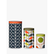 Buy Orla Kiely Flower Canisters, Set of 3, Multi Online at johnlewis.com