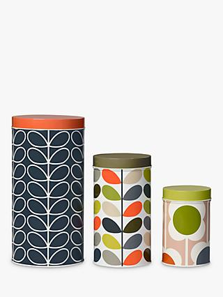 Orla Kiely Flower Canisters Set Of 3 Multi