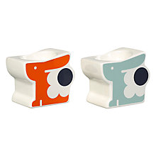 Buy Orla Kiely Stoneware Bunny Egg Cups, Set of 2, Multi Online at johnlewis.com