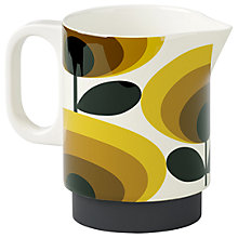 Buy Orla Kiely Small Oval Flower Milk Jug, Yellow, 350ml Online at johnlewis.com