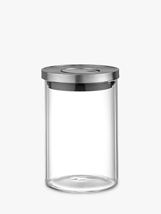House By John Lewis Stackable Glass Jar, 800ml