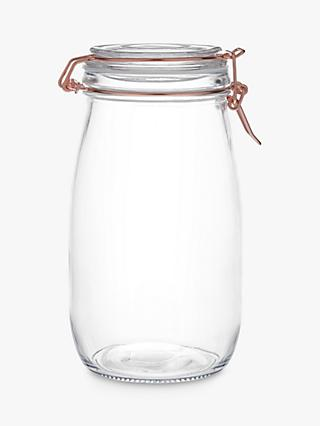House by John Lewis Copper Wire Clip Top Jar, 1.5L