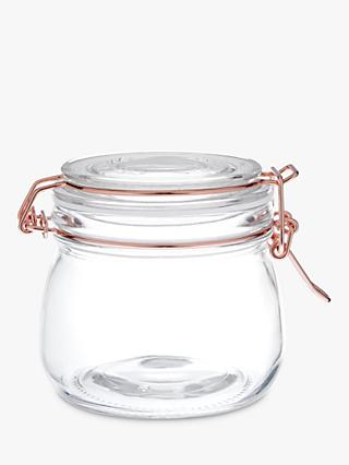 House by John Lewis Copper Wire Clip Top Jar, 500ml