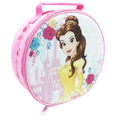 Beauty and The Beast Round Lunch Bag, Pink/Multi