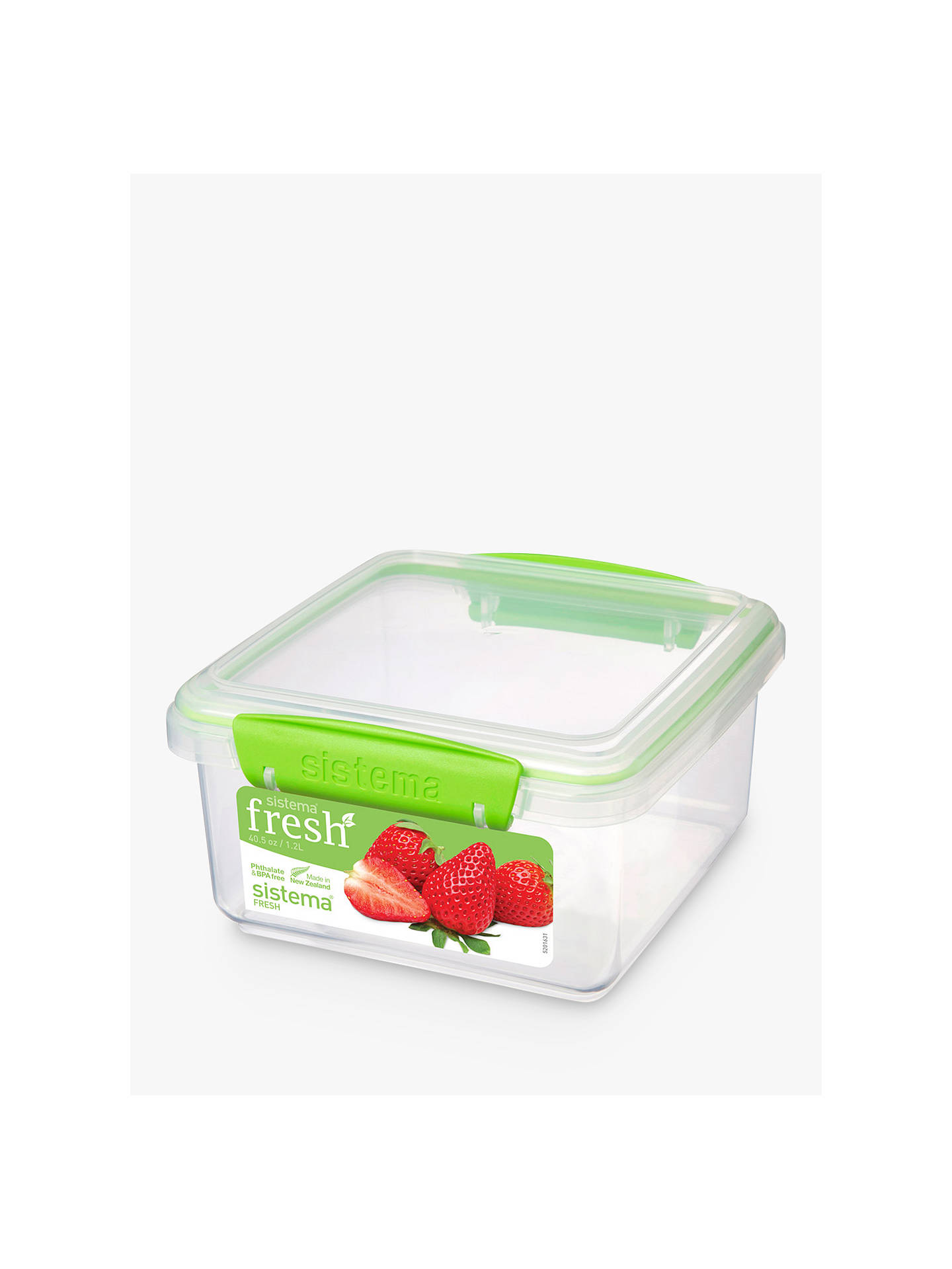 Buy Sistema Fresh Rectangular Storage Box, 1.2L Online at johnlewis.com