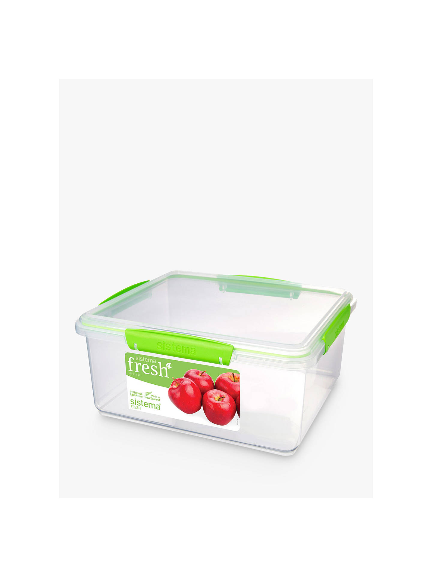 BuySistema Fresh Rectangular Storage Container, 5L Online at johnlewis.com