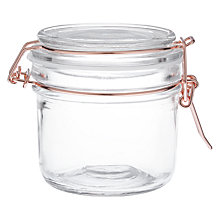 Buy House by John Lewis Copper Wire Clip Top Jar, 200ml Online at johnlewis.com
