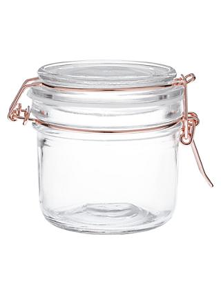 House by John Lewis Copper Wire Clip Top Jar, 200ml