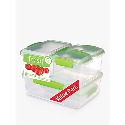 Sistema Fresh Storage Containers, Set of 6