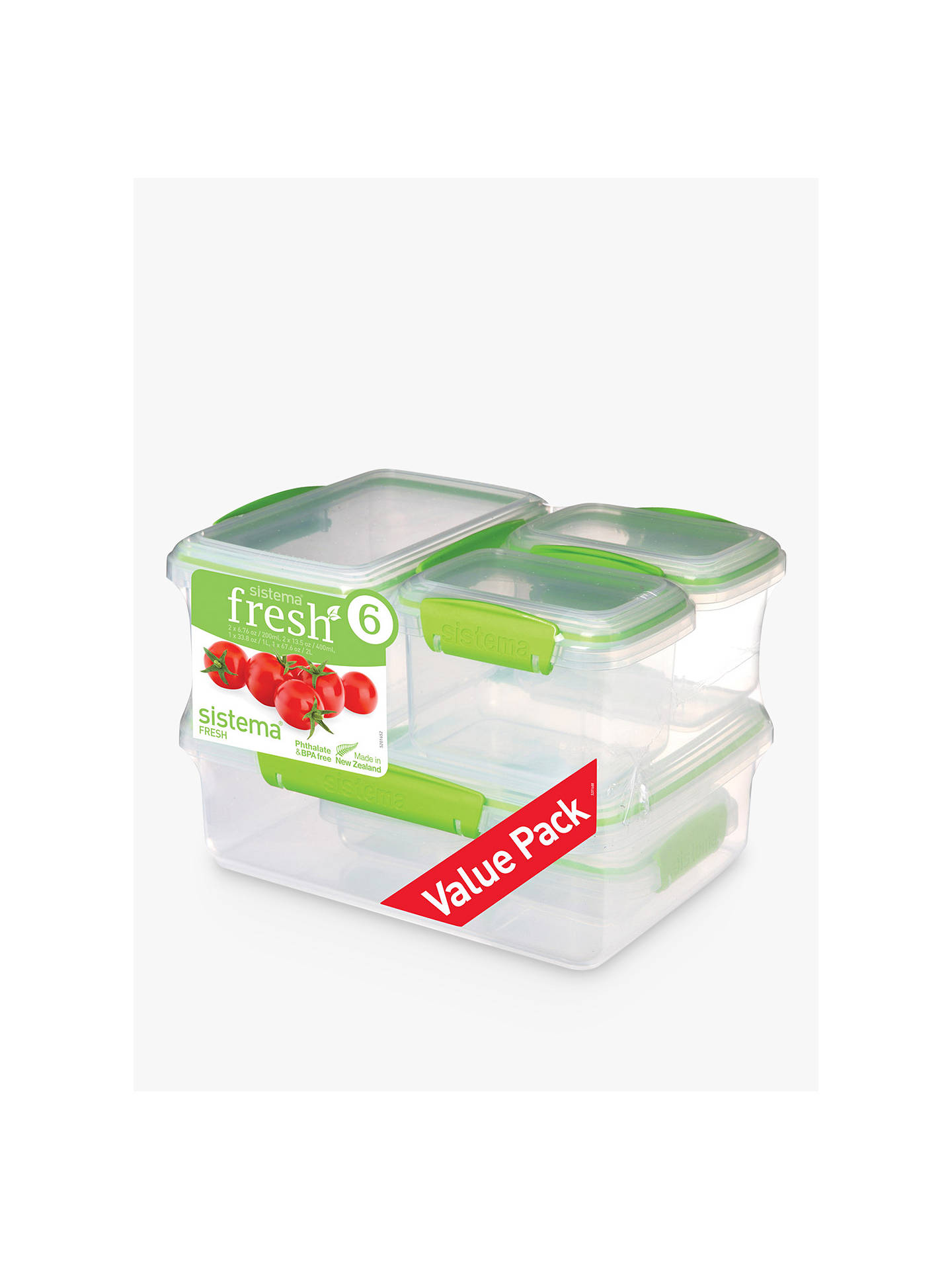 BuySistema Fresh Storage Containers, Set of 6 Online at johnlewis.com