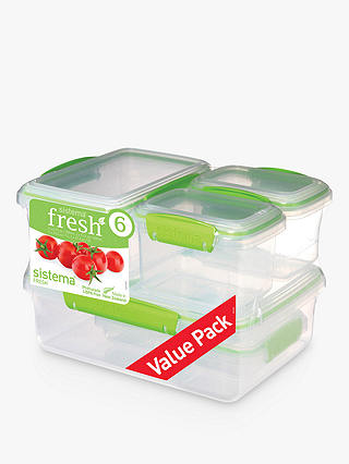 Buy Sistema Fresh Storage Containers, Set of 6 Online at johnlewis.com