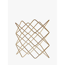 Buy John Lewis Wire Wine Rack, 9 Bottle, Gold Online at johnlewis.com