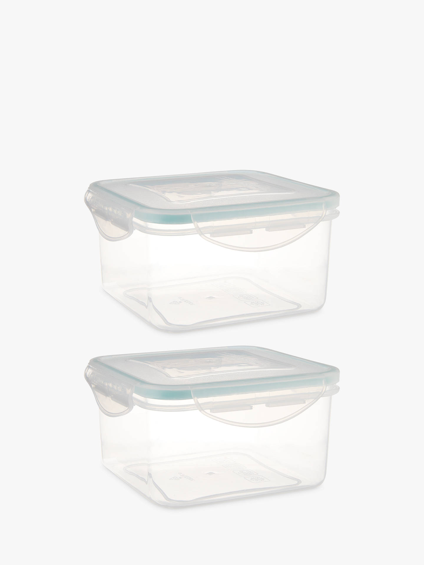 Buy John Lewis & Partners Polypropylene Storage Containers, Set of 2, Clear, 700ml Online at johnlewis.com
