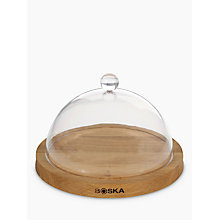 Buy Boska Cheeseboard With Dome, Oak, Dia.23.7cm Online at johnlewis.com