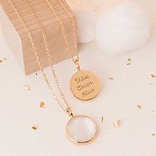 Buy Merci Maman Personalised Freya Pendant Necklace Online at johnlewis.com