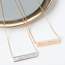 Buy Merci Maman Personalised Gemstone Bar Pendant Necklace Online at johnlewis.com
