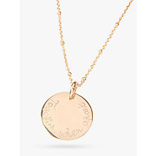 Buy Merci Maman Personalised Edge Charm Pendant Necklace Online at johnlewis.com