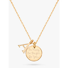 Buy Merci Maman Personalised Alphabet Pendant Necklace Online at johnlewis.com