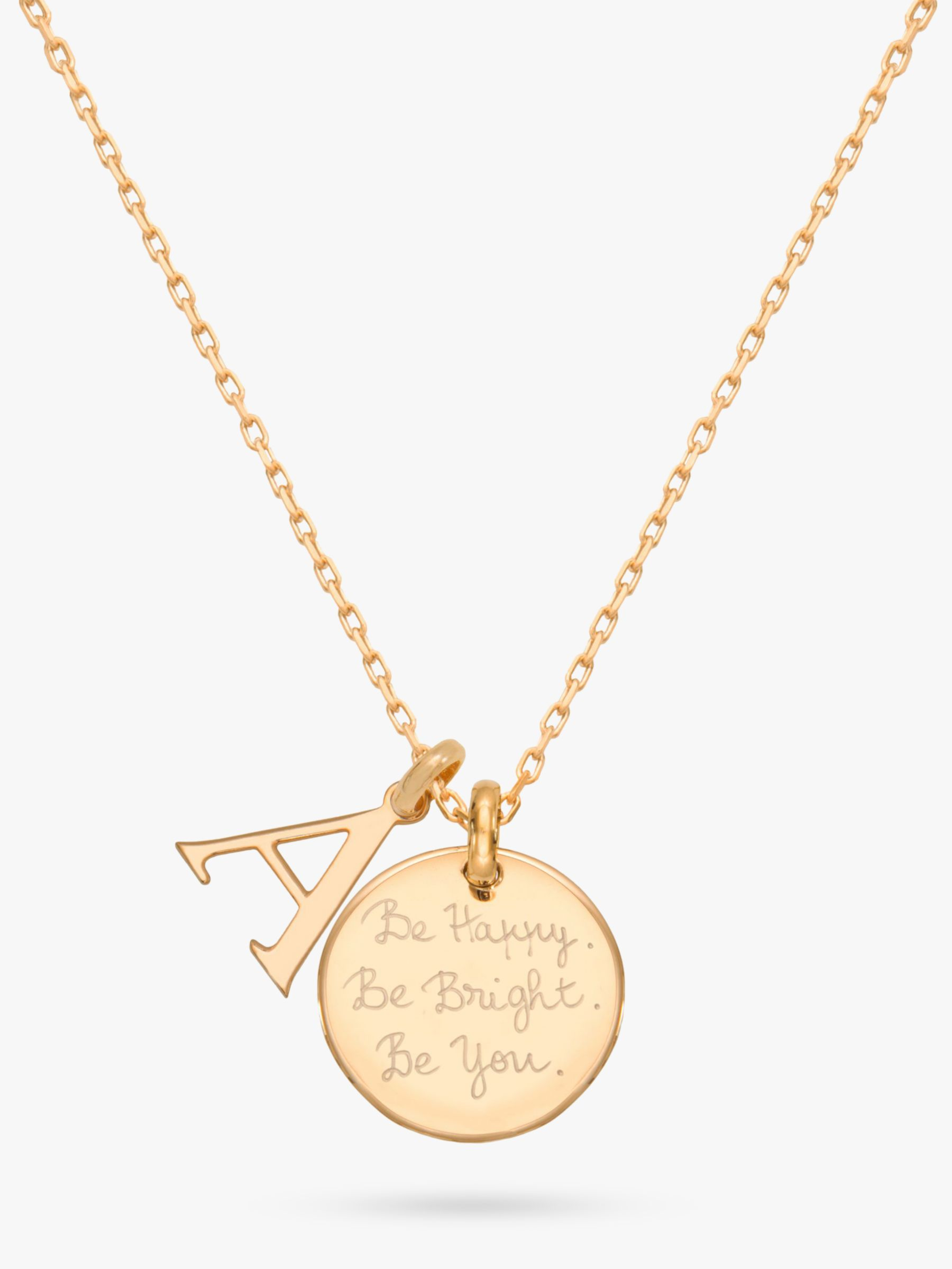 Buy Merci Maman Personalised Alphabet Pendant Necklace, Gold Online at johnlewis.com
