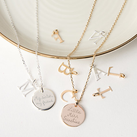 Buy merci maman personalised alphabet pendant necklace john lewis buy merci maman personalised alphabet pendant necklace online at johnlewis mozeypictures Images