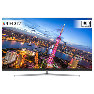 Image of Hisense H55NU8700 ULED HDR 4K Ultra HD Smart TV, 55 with Freeview Play, Ultra HD Certified, Silver