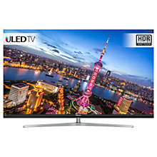 "Buy Hisense H55NU8700 ULED HDR 4K Ultra HD Smart TV, 55"" with Freeview Play, Silver, Ultra HD Certified Online at johnlewis.com"