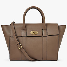 Buy Mulberry Bayswater Small Classic Grain Leather Strap Bag, Clay Online at johnlewis.com
