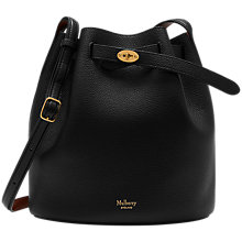 Buy Mulberry Abbey Small Classic Grain Bucket Bag, Black / Oak Online at johnlewis.com