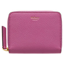 Buy Mulberry Small Zip Around Leather Purse Online at johnlewis.com