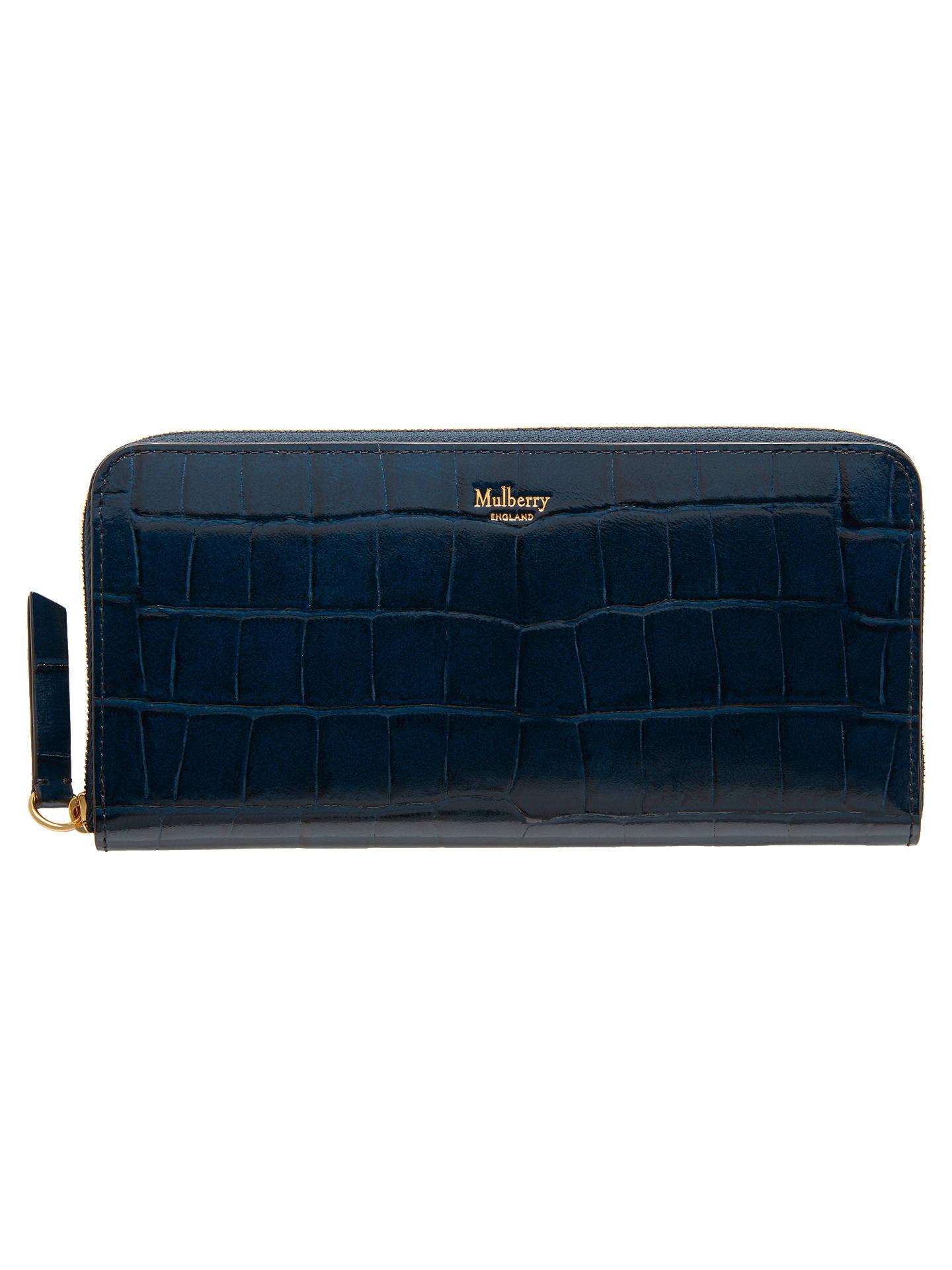 0471a4f413ac ... get buymulberry zip around wallet purse navy croc online at johnlewis  40263 2d2da