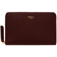 Buy Mulberry Medium Leather Zip Around Purse Online at johnlewis.com