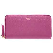 Buy Mulberry Zip Around Leather Purse Online at johnlewis.com