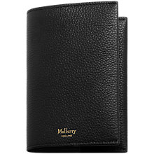 Buy Mulberry Natural Grain Leather Passport Cover Online at johnlewis.com