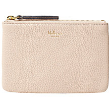 Buy Mulberry Small Classic Grain Zip Coin Pouch, Rosewater Online at johnlewis.com
